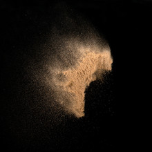 Sand, Isolated On Black Backgr...