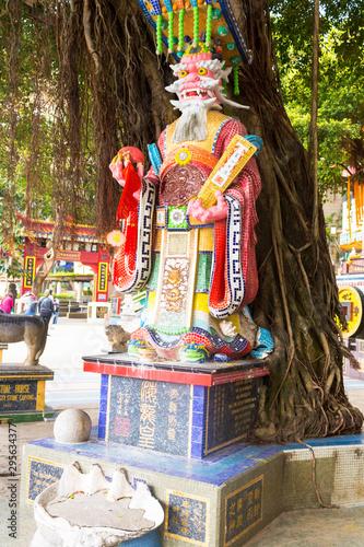 Fényképezés Closeup of dragon statue in Tin Hau Temple, Repulse Bay, Hong Kong