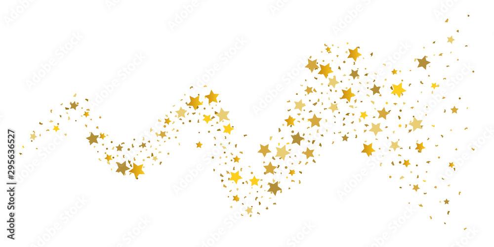 Fototapety, obrazy: Gold glitter star.