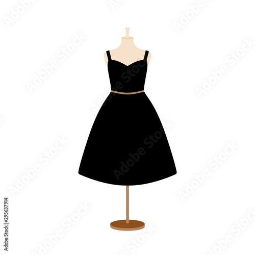 Photo Vector illustration of an isolated plus size dress on a mannequin