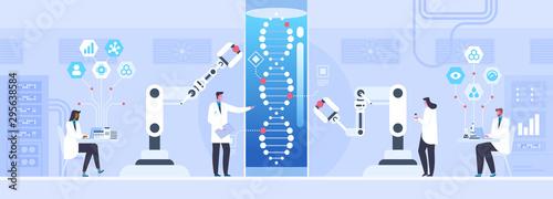 Genetic science flat vector illustration Tablou Canvas