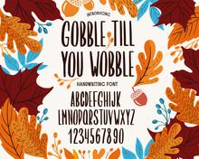 Font Thanksgiving Day. Typogra...