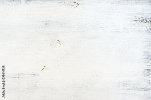 White painted wood texture Canvas Print