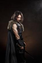 Man Dressed In Medieval Armor ...