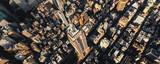 Fototapeta Nowy Jork - Aerial view of the skyscrapers of Midtown Manhattan New York City