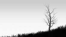 Silhouette Of Tree Texture Art...