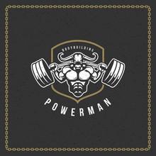 Fitness Gym Badge Or Emblem Ve...
