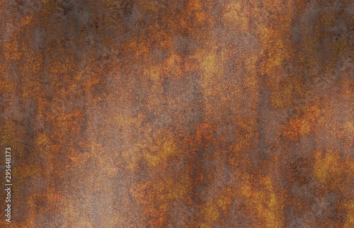 Poster Metal rusty oxidized eroded metal