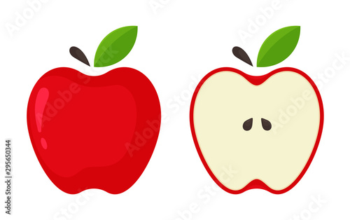 Obraz na plátne Red Apple Icon