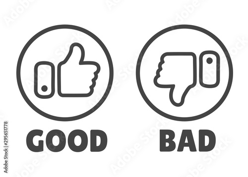 Fototapeta  Thumbs up icon Isolated on a white background