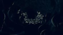 Dark Halloween Skull Cave