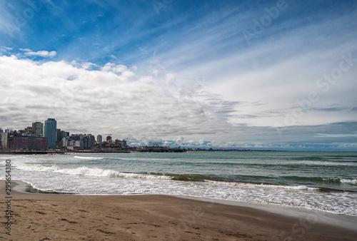 Valokuvatapetti coast of the Atlantic Ocean. Argentina Mar del Plata