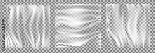 Fotomural Realistic stretch transparent polyethylene vector
