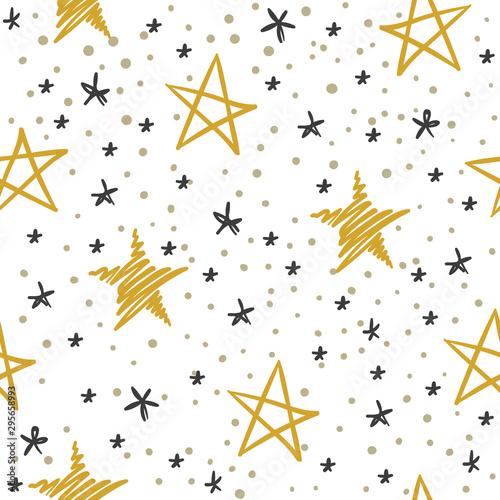 Photo Sketch star seamless pattern