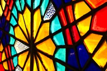 A Beautiful Stained Glass Wind...