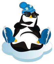 Penguin In Black Sunglasses