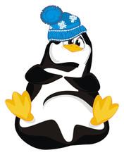 Funny Penguin In War Hat
