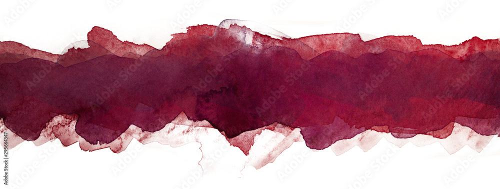 Fototapeta abstract watercolor multilayer strip background dark red stripe line element for design