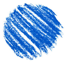 Blue Circle Drawing With Color...