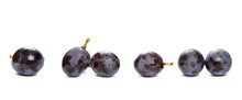 Fresh Black Muscat Grapes Isol...