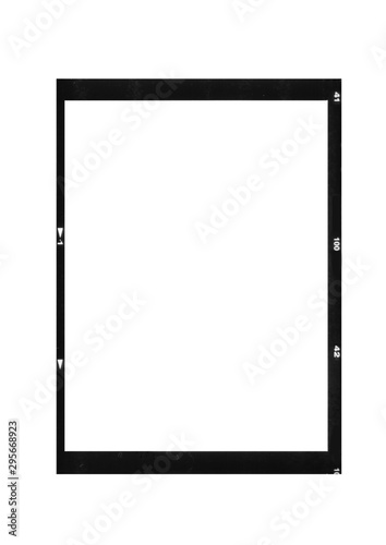 Obraz scan of blank medium format photo film frame ratio 6 8 isolated on white background - fototapety do salonu