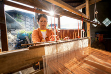 Traditional Isan Thai Silk Wea...