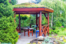 Pavilion In The Garden.