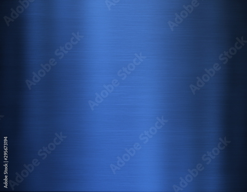 Poster Metal Blue metal background
