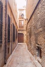 Narrow Street In The Center Of Toledo, Spain