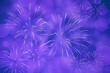 canvas print picture - Blauvioletter Silvesterhintergrund mit Feuerwerk