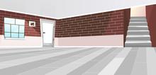 Empty Room Interior Flat Vecto...