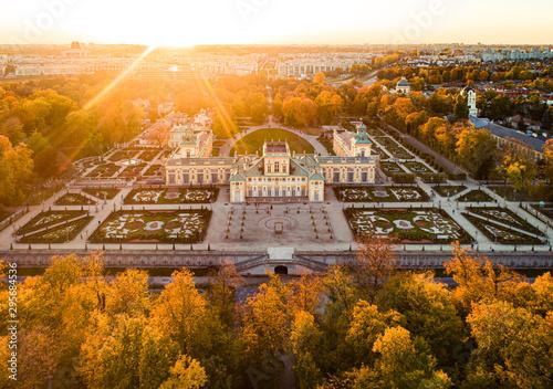 Fototapeta Warszawa - Pałac w Wilanowie obraz