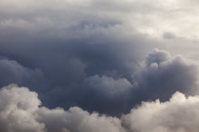 Dark Puffy Cloud Layers And Sk...