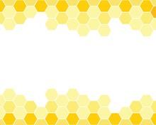 Yellow Honeycomb Background. H...