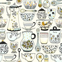 Seamless Pattern For Kitchen T...
