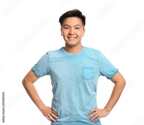 Fotografia Portrait of Asian man on white background