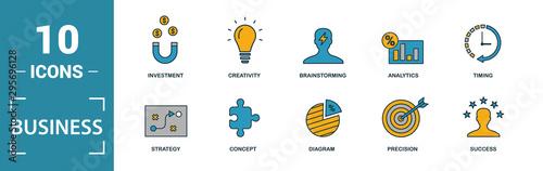 Fototapeta  Business icon set