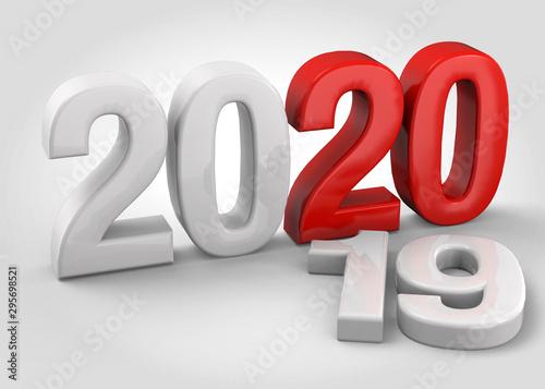 Happy New Year - 3D Fototapet