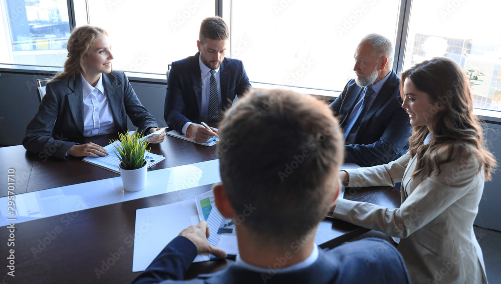Fototapeta Business people meeting conference discussion corporate concept.