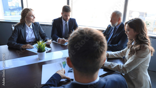 Obraz Business people meeting conference discussion corporate concept. - fototapety do salonu