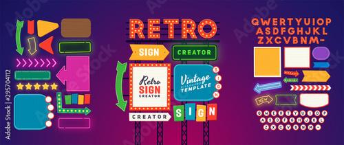 Cuadros en Lienzo Retro signboard creator