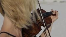 Violinist In Desert (White Sands National Monument)