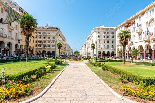 Aristotelous (Aristotle) Square in center of Thessaloniki, Greece