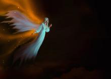 Deceased Soul Flies In Heaven...