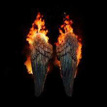 Burning Angel Wings, Dark Atmo...