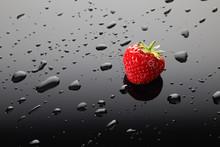Sweet Strawberries On Gradient...