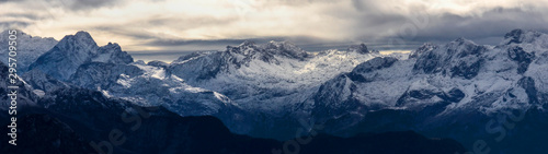 berchtesgadener alps in germany mountain panorama Canvas Print
