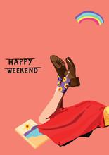 Summer Happy Weekend Background