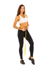 Young Healthy Girl Doing Exerc...