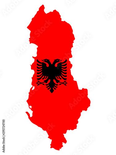 Albania Map Flag Vector illustration eps 10 Wallpaper Mural